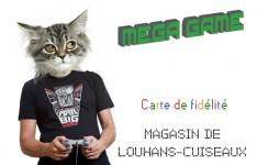 Carte de fidélité de Mega Game, magasin de jeux vidéo