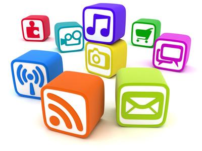 Illustration d'une palette de formation multimédia et des activités connexes