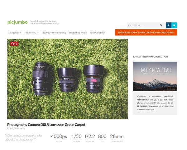 Picjumbo une banque de photos libre de droits sous forme de blog