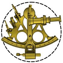 Le sextant permet de fixer un cap de navigation