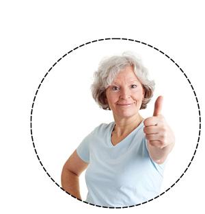 Dame avec le pouce levé. Votre satisfaction est une marque importante de validation de nos modules de formation.